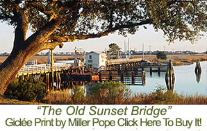 Sunset Beach Bridge Print