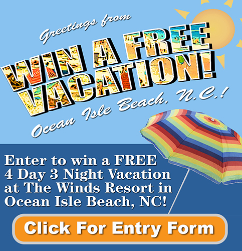 Free Vacation Giveaway Ocean Isle Beach SideAd
