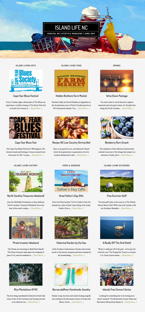 Island Life NC June Issue Articles