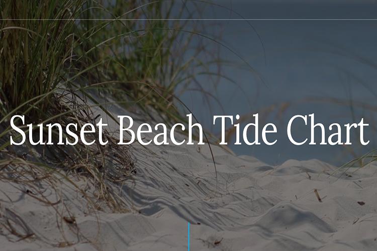Sunset Beach Tide Chart